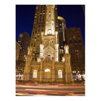 Los E.E.U.U., Illinois, Chicago, torre de agua ilu Postales