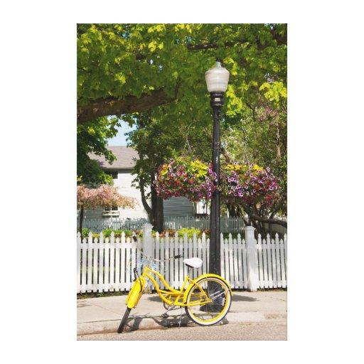 Los E.E.U.U., Michigan, isla de Mackinac. Bici Lienzo Envuelto Para Galerias