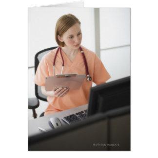 Los E.E.U.U., New Jersey, Jersey City, enfermera d Tarjeta