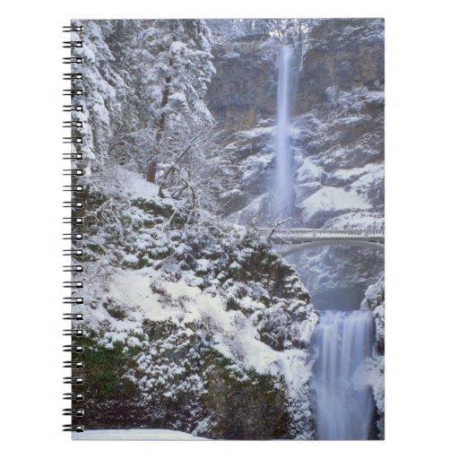 Los E.E.U.U., Oregon, garganta del río Columbia Libreta Espiral