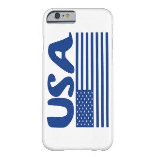 LOS E.E.U.U. POR LA MATERIA AMERICANA PATRIÓTICA FUNDA PARA iPhone 6 BARELY THERE