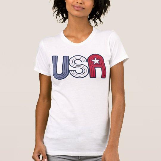 Los E.E.U.U. retros con la estrella patriótica Camiseta