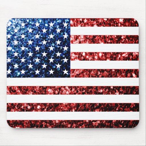 Los E.E.U.U. señalan rojo por medio de una bandera Tapetes De Ratones