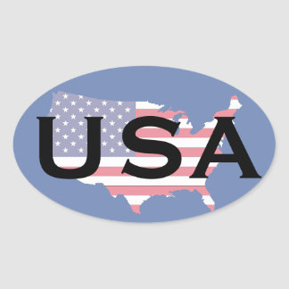 Los E.E.U.U. trazan al pegatina oval