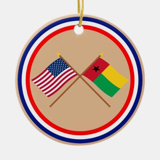 Los E.E.U.U. y banderas cruzadas Guinea-Bissau Ornamente De Reyes