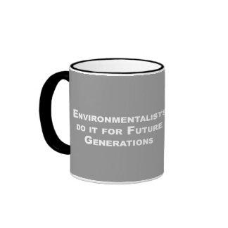 Los ecologistas lo hacen para las futuras taza a dos colores