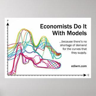 Los economistas lo hacen con el poster del lema de