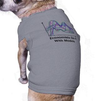 Los economistas lo hacen con la camiseta del perro camiseta sin mangas para perro