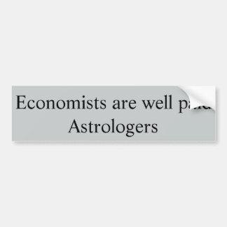 Los economistas son astrólogos bien pagados pegatina para coche