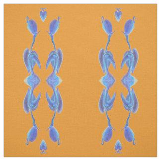 los egrets agrupan en tela anaranjada
