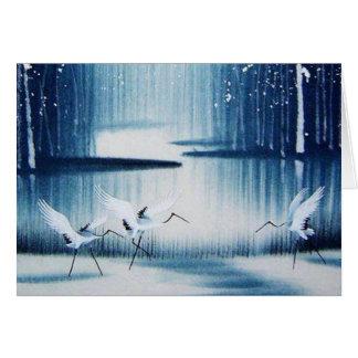 Los Egrets del invierno le agradecen tarjeta de