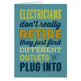 Los electricistas no se retiran realmente tarjeta de felicitación
