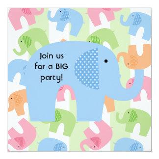 Los elefantes del circo modificaron invitaciones invitación 13,3 cm x 13,3cm