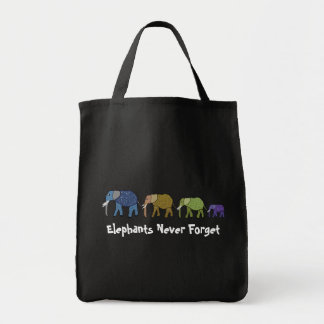 Los elefantes nunca olvidan bolso de tela