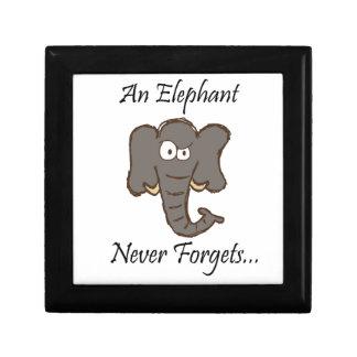 Los elefantes nunca olvidan caja de recuerdo