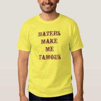 Los enemigos me hacen famoso camisetas