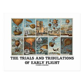 Los ensayos y las tribulaciones del vuelo temprano postal