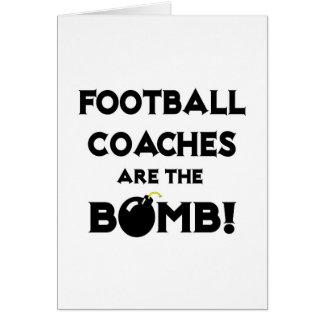 ¡Los entrenadores de fútbol son la bomba Tarjeta