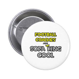Los entrenadores de fútbol son rey Cool del sofá Chapa Redonda 5 Cm