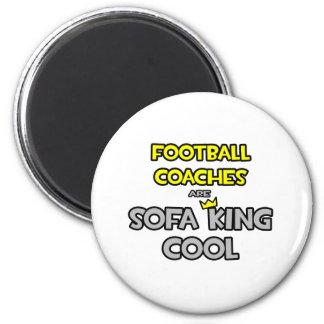 Los entrenadores de fútbol son rey Cool del sofá Imán Redondo 5 Cm