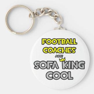 Los entrenadores de fútbol son rey Cool del sofá Llavero Redondo Tipo Chapa