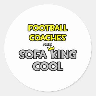 Los entrenadores de fútbol son rey Cool del sofá Pegatinas Redondas