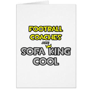 Los entrenadores de fútbol son rey Cool del sofá Tarjeta