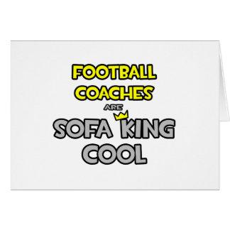 Los entrenadores de fútbol son rey Cool del sofá Tarjeta De Felicitación
