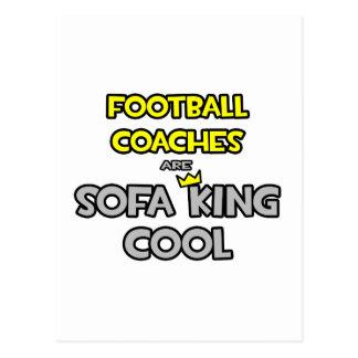 Los entrenadores de fútbol son rey Cool del sofá Tarjetas Postales