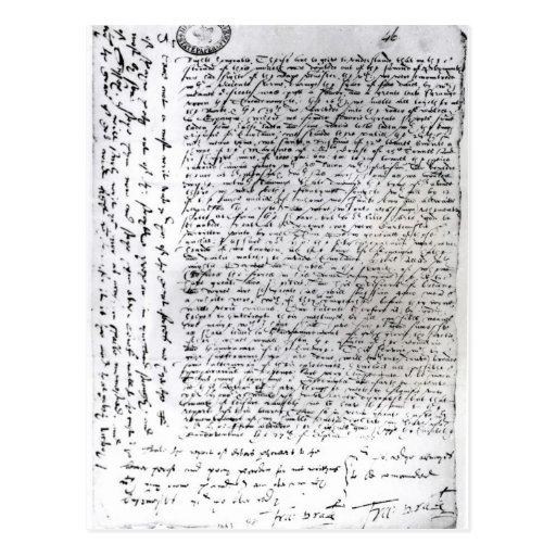 Los envíos escritos de sir Francis Drake Postal