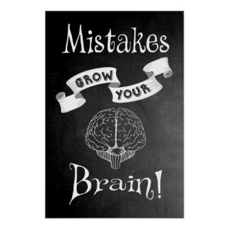 Los errores crecen su cerebro póster
