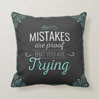 Los errores son prueba que usted está intentando cojín decorativo