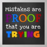 Los errores son prueba que usted está intentando e posters
