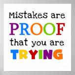 Los errores son prueba que usted está intentando posters