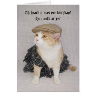 Los escoceses divertidos adaptables doblan tarjeta de felicitación