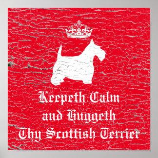Los escoceses tranquilos Terrier de Keepeth Póster