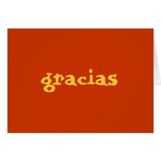 los españoles le agradecen observar tarjeta de felicitación