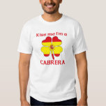 Los españoles personalizados me besan que soy camisetas