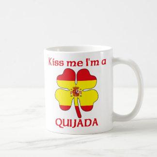Los españoles personalizados me besan que soy Quij Taza Básica Blanca