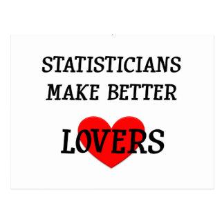 Los estadísticos hacen a mejores amantes postal