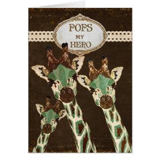 Los estallidos de las jirafas del cobre y del trul tarjeta de felicitación