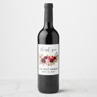 Los favores del boda de la etiqueta del vino le