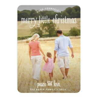 Los Felices pequeños Navidad limpian la tarjeta de Invitación 11,4 X 15,8 Cm