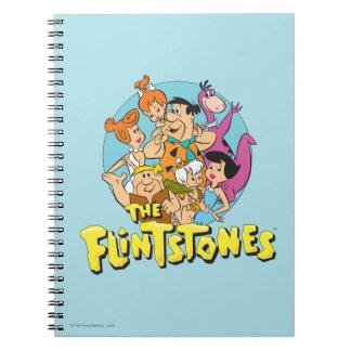 Los Flintstones y el gráfico de la familia de los Cuaderno