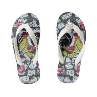 los flips-flopes del niño del modelo de mosaico chanclas para niños