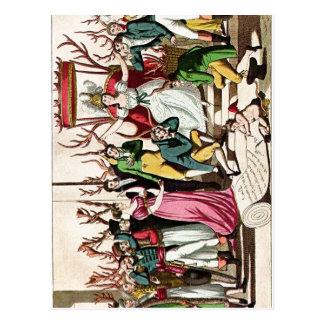 Los franceses coloreados satíricos del resumen A i Tarjetas Postales