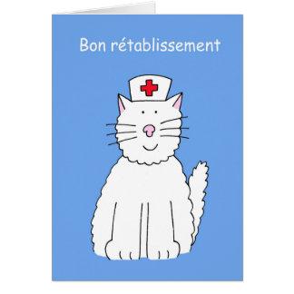 Los franceses consiguen pronto el gato bien, Bon Tarjeta De Felicitación