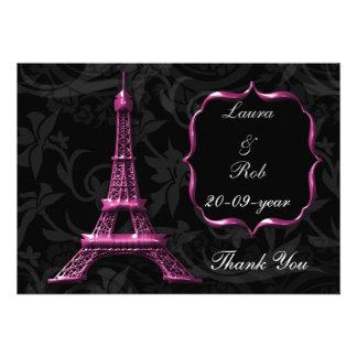 los franceses rosados de la torre Eiffel le Anuncios Personalizados