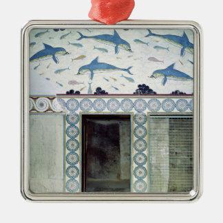 Los frescos del delfín en el cuarto de baño de la ornamento para arbol de navidad