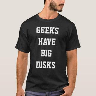 Los frikis tienen discos grandes camiseta